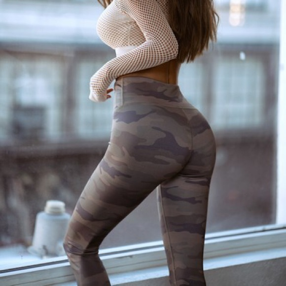 Camo High Waist Compression No Show Leggings